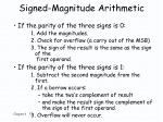 signed magnitude arithmetic