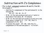subtraction with 2 s compleme nt