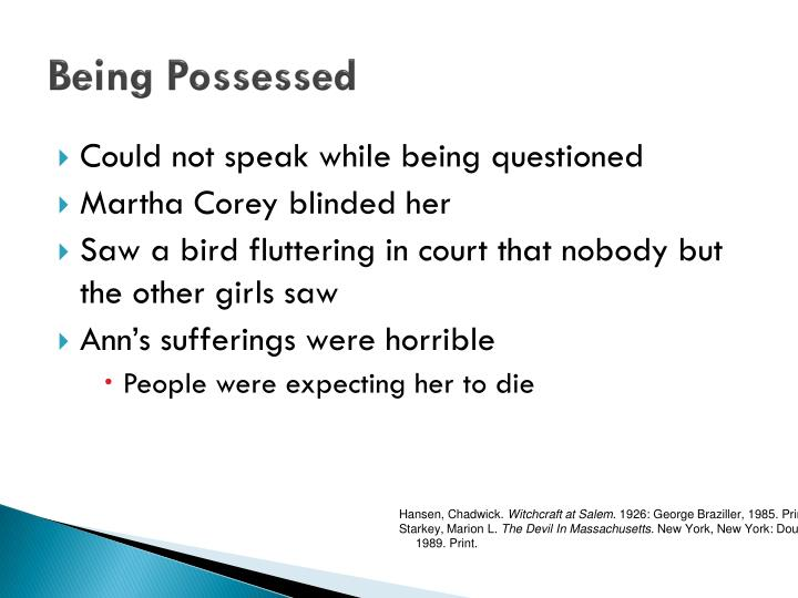 Being Possessed