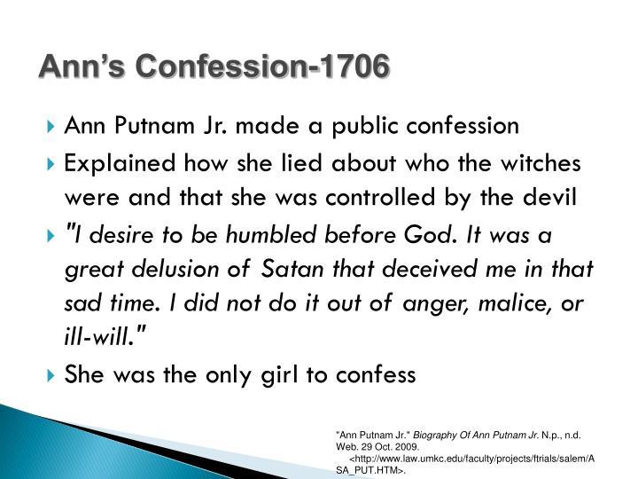 Ann's Confession-1706