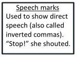 speech marks