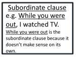 subordinate clause1