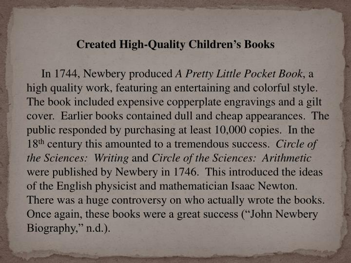 Created High-Quality Children's Books