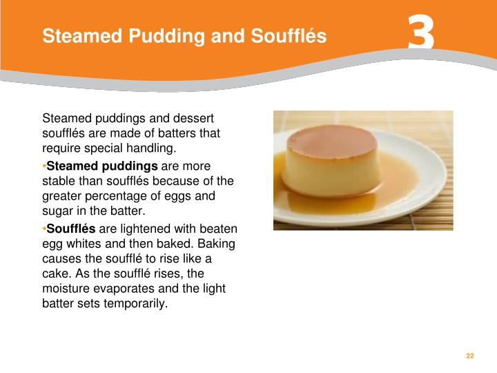 Steamed Pudding and Soufflés