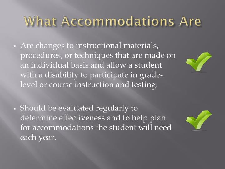 What Accommodations Are