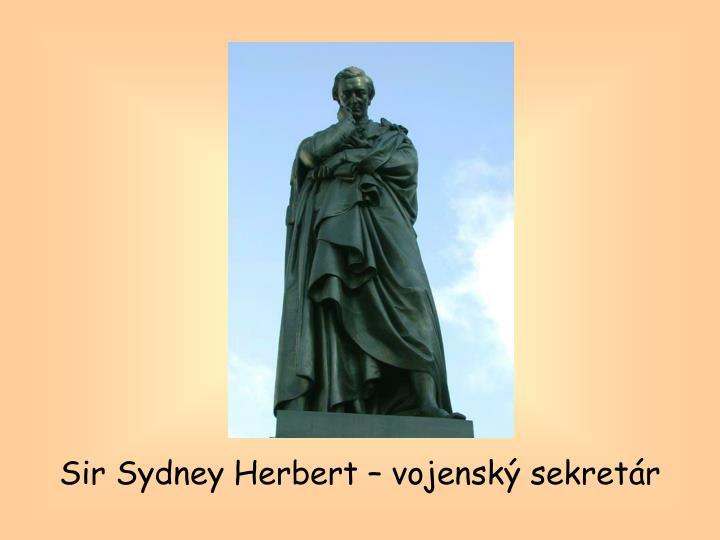 Sir Sydney Herbert – vojenský sekretár