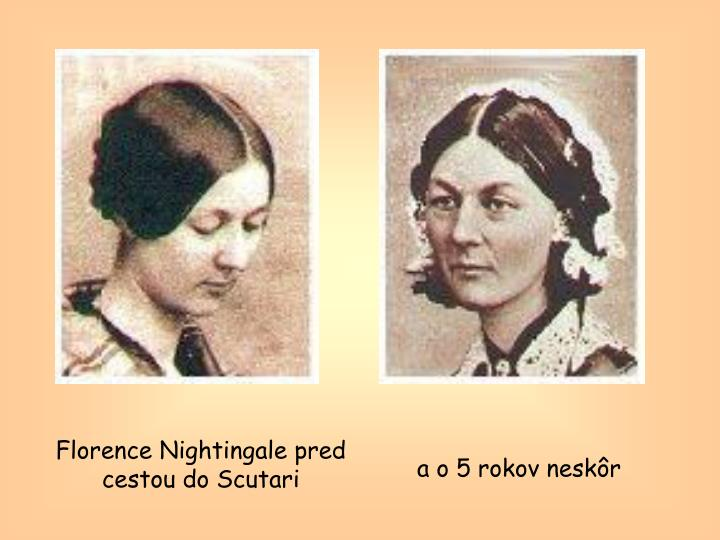 Florence Nightingale pred cestou do Scutari