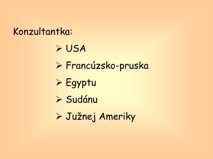Konzultantka: