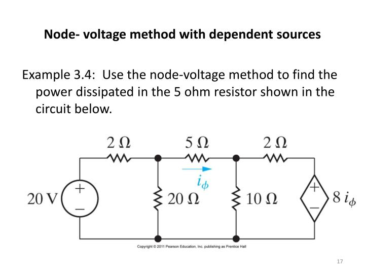 Node- voltage method with dependent sources
