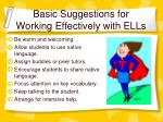 basic suggestions for working effectively with ells