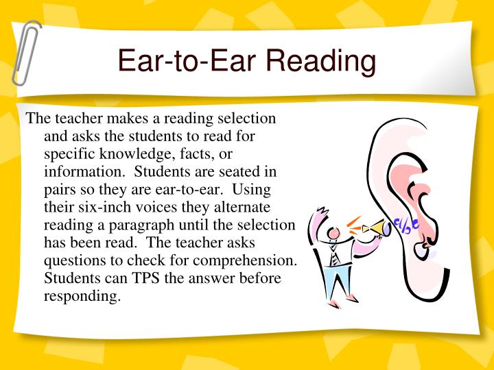 Ear-to-Ear Reading