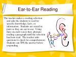 ear to ear reading