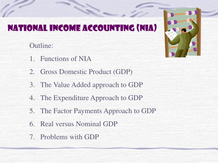 national income accounting nia