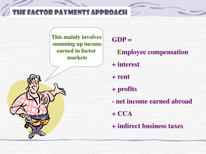 The Factor Payments Approach
