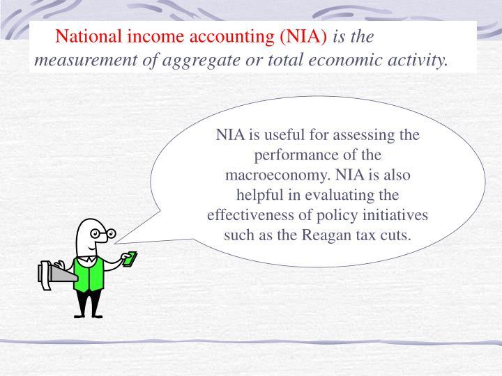 National income accounting (NIA)