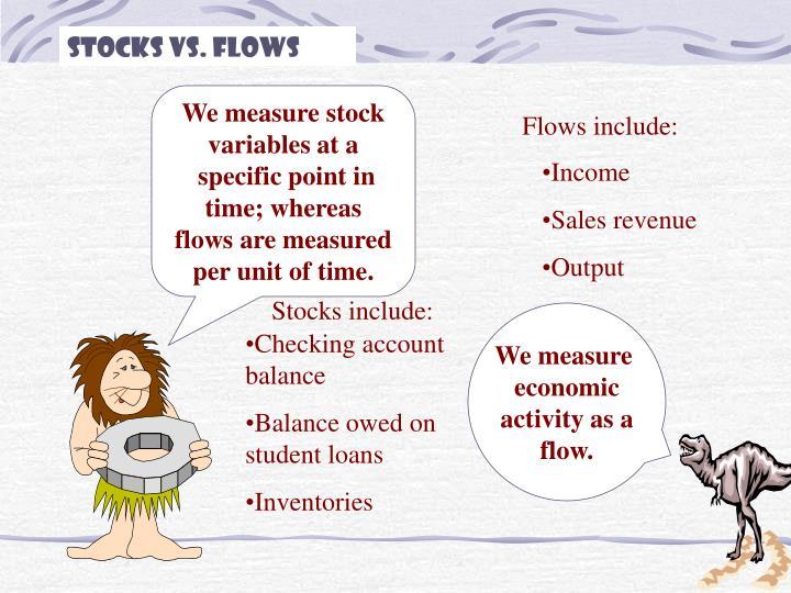 Stocks vs. Flows