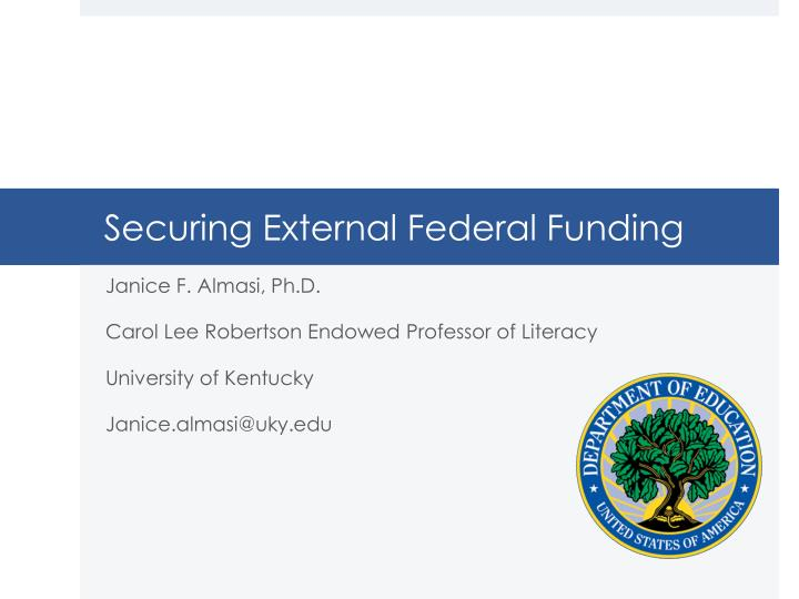 Securing External Federal Funding