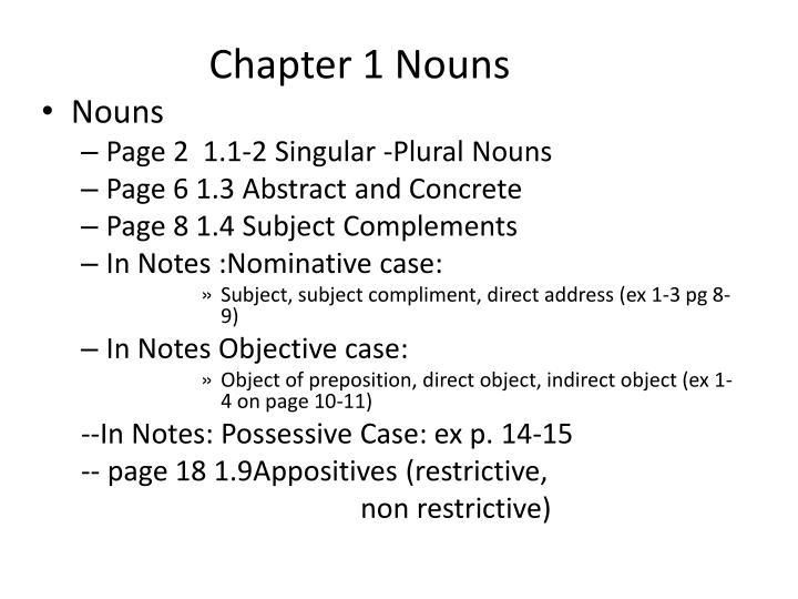 Chapter 1 Nouns
