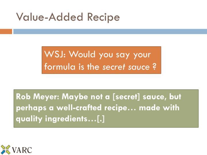 Value-Added Recipe