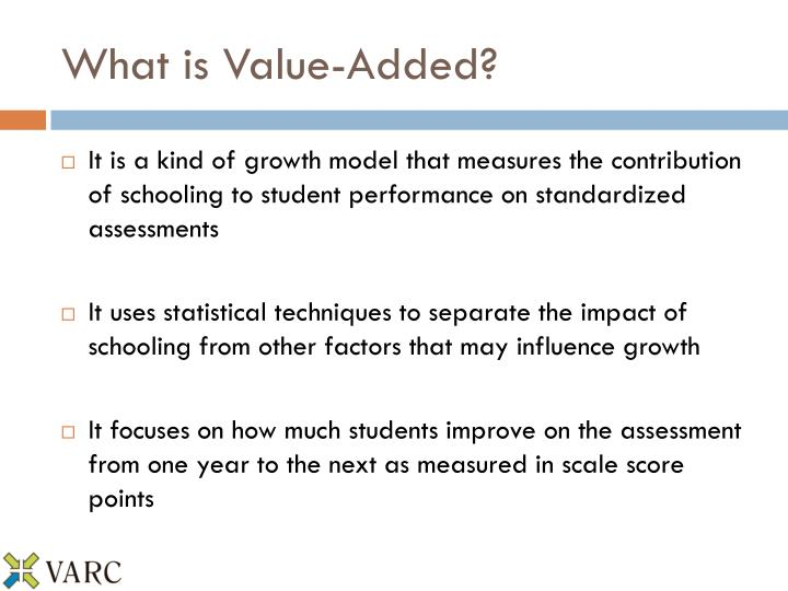 What is Value-Added?