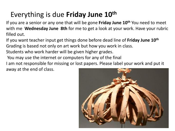 If you are a senior or any one that will be gone
