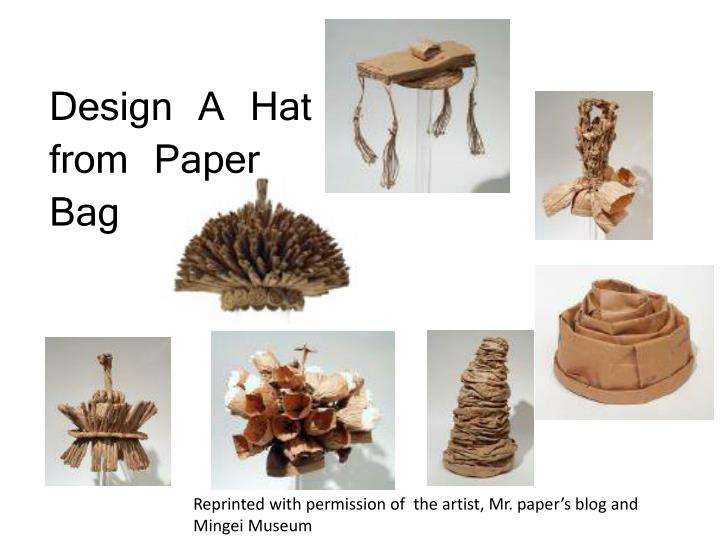 Design A Hat from Paper Bag