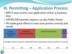 iii permitting application process