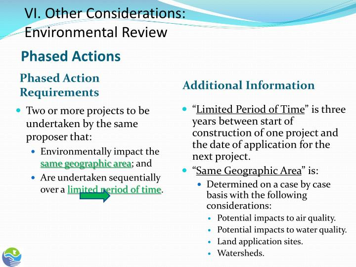 VI. Other Considerations: