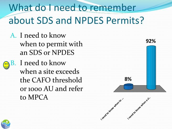 What do I need to remember about SDS and NPDES Permits?