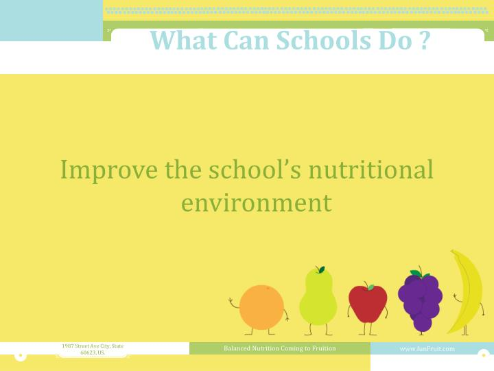 What Can Schools Do ?