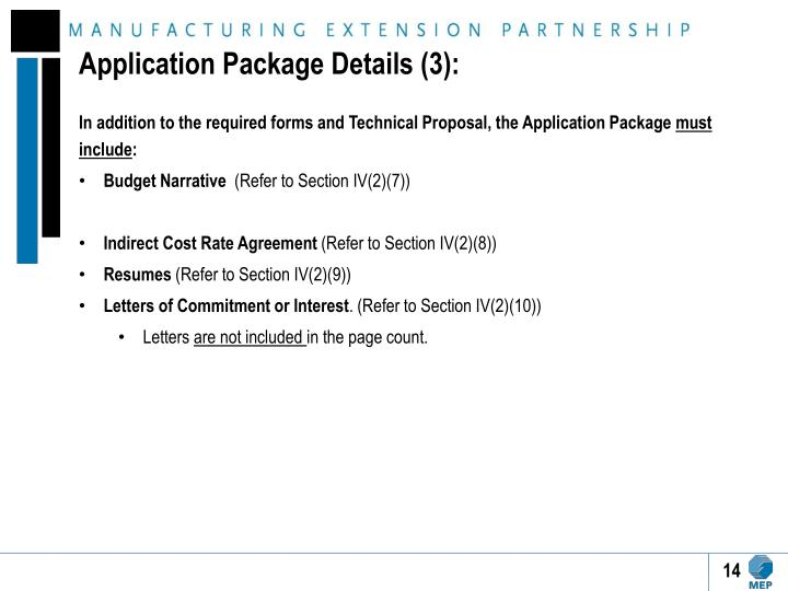 Application Package Details (3):