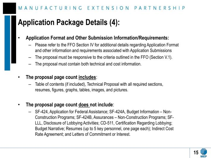 Application Package Details (4):