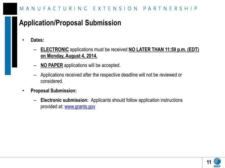 Application/Proposal