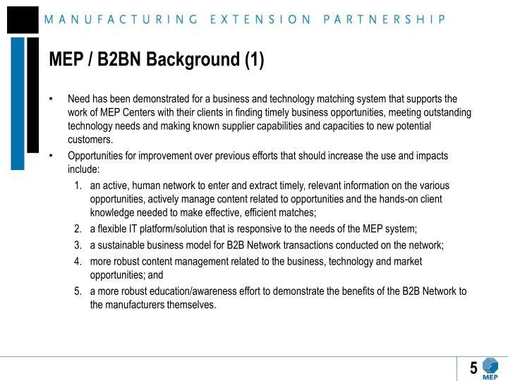 MEP / B2BN Background (1)