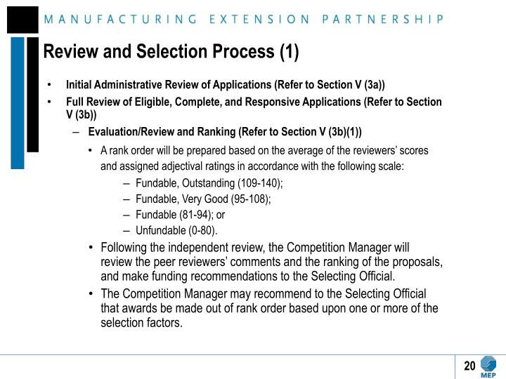 Review and Selection Process (1)