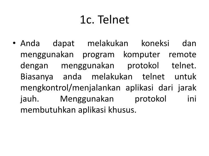 1c. Telnet