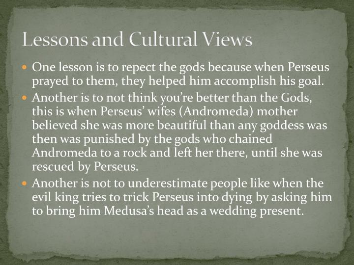 Lessons and Cultural Views