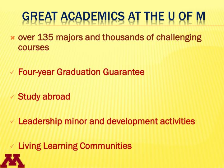over 135 majors and thousands of challenging courses