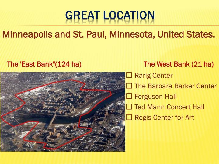 Minneapolis and St. Paul, Minnesota, United States.