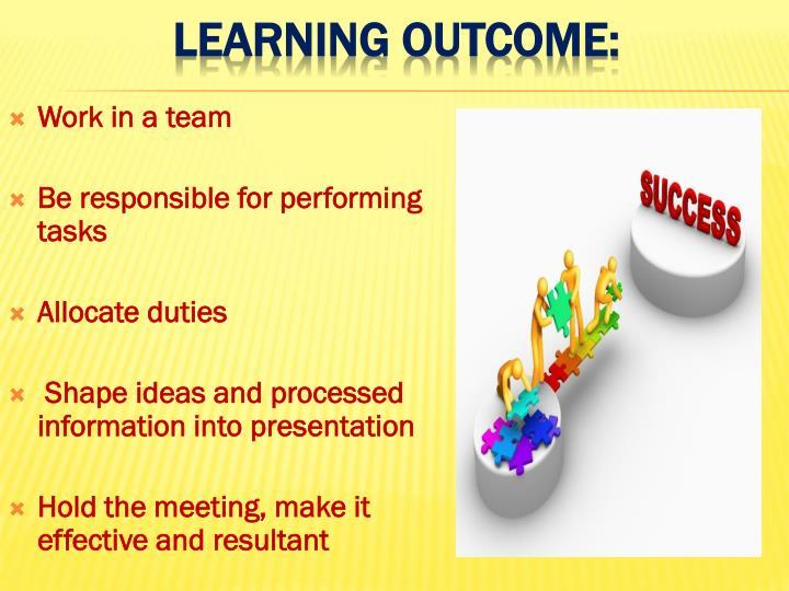 Work in a team