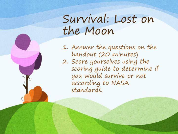 Survival: Lost on the Moon