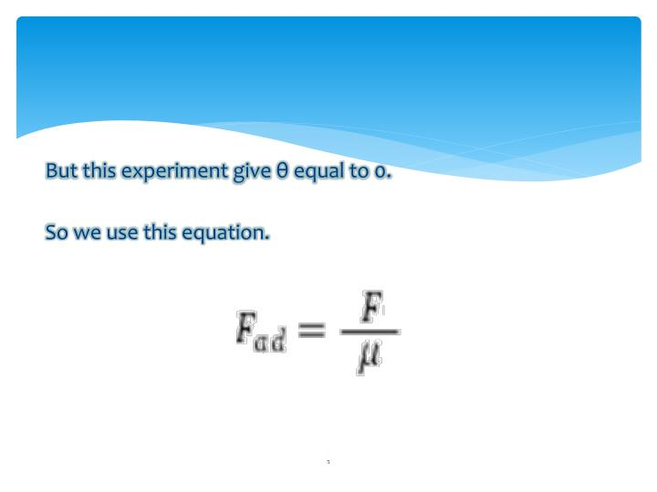 But this experiment give θ equal to 0.