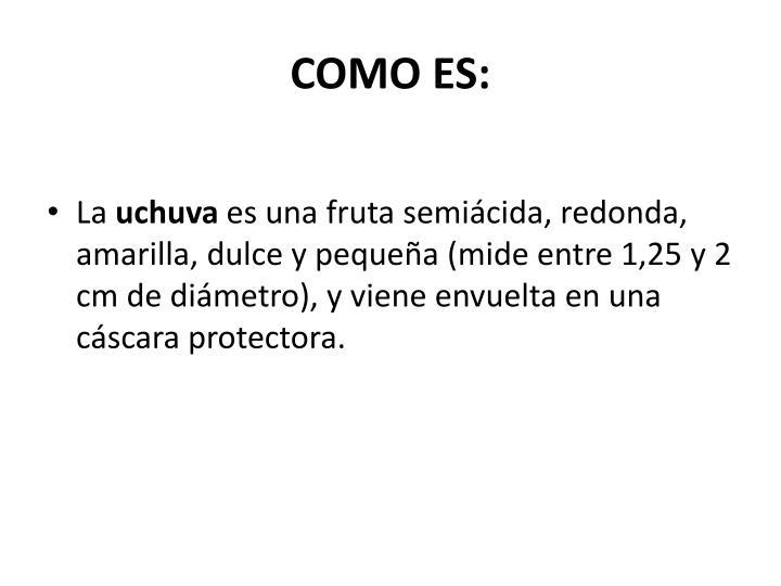 COMO ES: