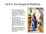 part 3 the gospel of matthew22
