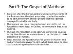 part 3 the gospel of matthew27
