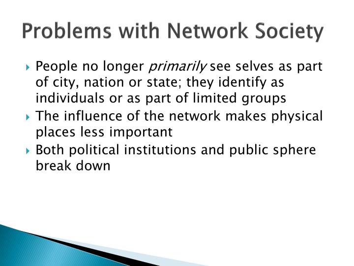 Problems with Network Society
