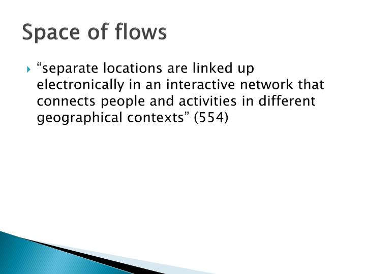 Space of flows