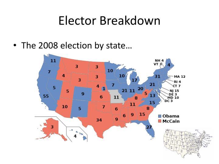 Elector Breakdown