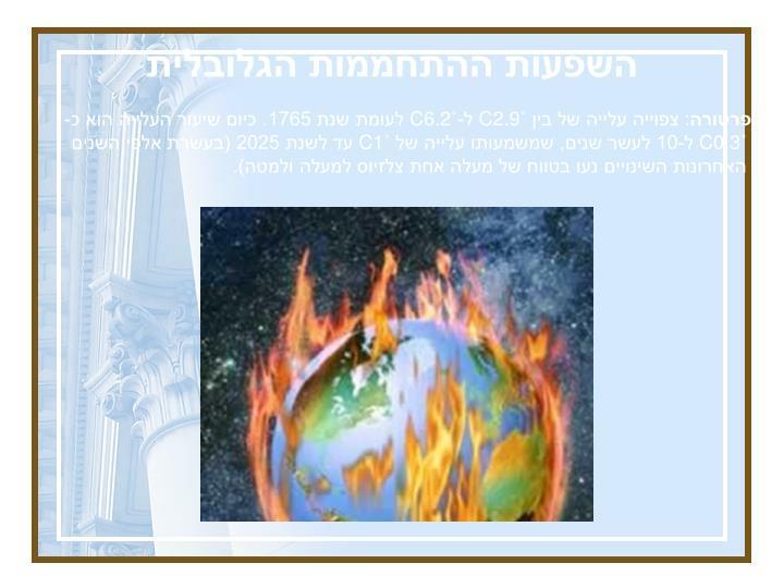 השפעות ההתחממות הגלובלית