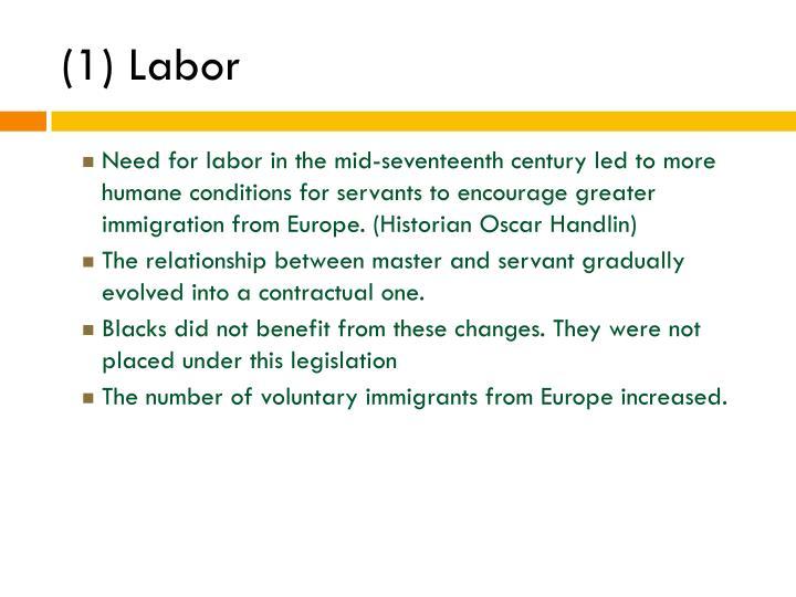 (1) Labor